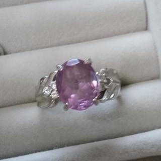 109 昭和レトロ silverアメジストリング 紫水晶 天然石 ヴィンテージ(リング(指輪))