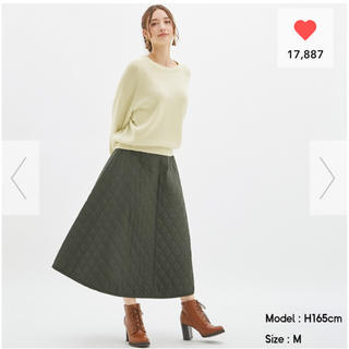 GU - ジーユー キルトフレアロングスカート キルト フレア ロングスカート スカート