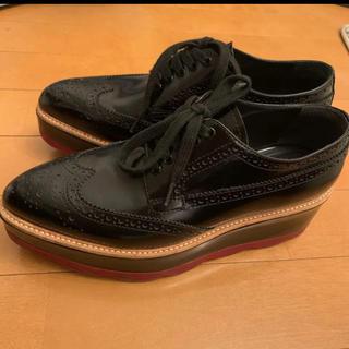 PRADA - PRADA プラダ レースアップシューズ 革靴 37 正規品