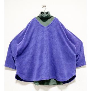 """Yohji Yamamoto - """"スーパーワイドシルエット"""" vintage パープル 紫 フリースセーター"""