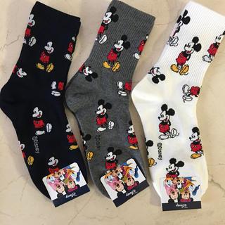 Disney - ミッキーマウスソックス3足セット