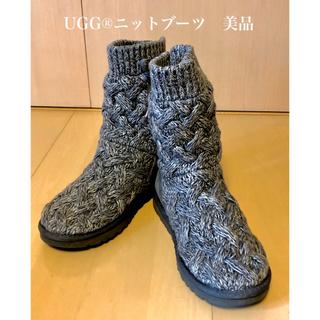 UGG - UGG®ニットブーツ リボン編み上げ グレー