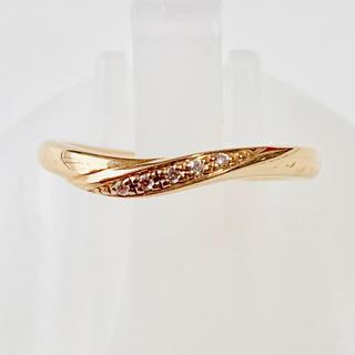 ヨンドシー(4℃)のリング 指輪 4°C k10 10金 ダイヤモンドリング 指輪 おしゃれ(リング(指輪))