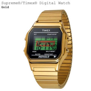 Supreme - supreme Timex digital watch gold シュプリーム