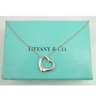 Tiffany & Co. - 三越購入品【USED】ティファニー オープンハート ネックレス シルバー