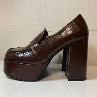 エスペランサ(ESPERANZA)のエスペランサ 厚底チャンキーヒールスクエアトゥローファー(ローファー/革靴)