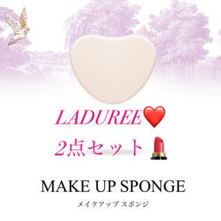レメルヴェイユーズラデュレ(Les Merveilleuses LADUREE)のラデュレ新品ハートMAKE UP SPONGEメイクアップ スポンジ 2点セット(その他)