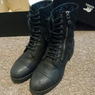 【GEOX】サイドジップ レースアップブーツ(ブーツ)