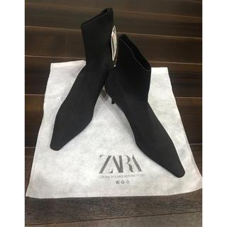 ZARA - 新品 今季完売品 ZARA ザラ ストレッチ リブソックス ショートブーツ