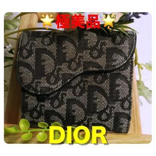 Christian Dior - 【極美品】ディオール Dior 財布 キャンバス×レザー グレイ