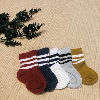 マーキーズ(MARKEY'S)の韓国 子ども 靴下5色セット 新品(靴下/タイツ)
