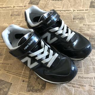 New Balance - ニューバランス 21㎝ キッズ スニーカー エナメル ブラック 黒 フォーマル