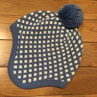 familiar - 北欧柄 ファミリア ポンポン ニット帽