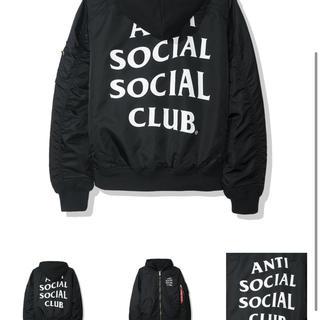 アンチ(ANTI)のanti social social clob MA-1 BLACK S(ミリタリージャケット)
