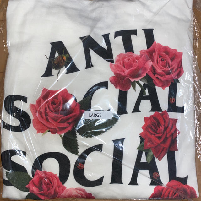 ANTI(アンチ)のantsocial social clob White hoody L メンズのトップス(パーカー)の商品写真