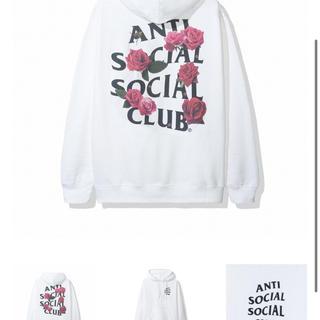 アンチ(ANTI)のantsocial social clob White hoody L(パーカー)
