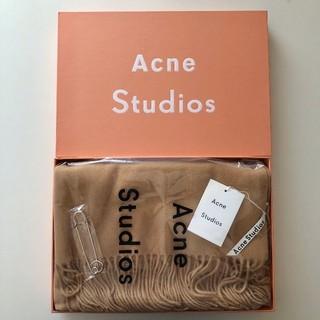 ACNE - Acne Studios アクネ キャラメルブラウン ストール マフラー