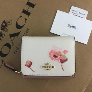 COACH - コーチ 最新作花柄 三つ折り財布