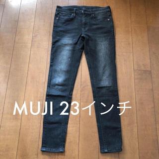 MUJI (無印良品) - MUJI ブラックデニム パンツ 23