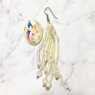 ロキエ(Lochie)のVintage * bird feather pierce set(ピアス)
