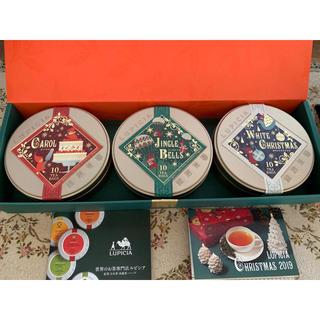 ルピシア(LUPICIA)のルピシア お茶紅茶日本茶烏龍茶ハーブ2019クリスマス3個セット LUPICIA(茶)