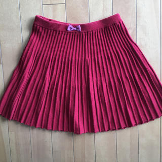 エニィファム(anyFAM)のanyfam 赤プリーツスカート 130(スカート)