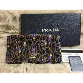 PRADA - プラダ PRADA 1MS001 長財布 ウォレット クラッチ 刺繍 花