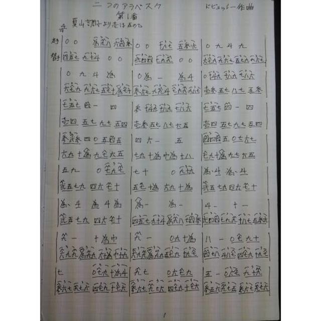 2つのアラベスク(ドビュッシー作曲)の通販 by 桐と話した(ラクマ版 ...