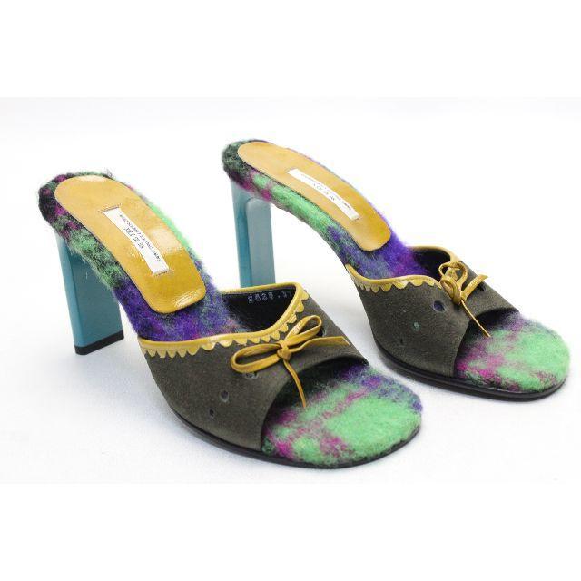 VII XII XXX(セヴントゥエルヴサーティ)の123■新品♪VII XII XXX 本革スエードミニリボンミュール(37) レディースの靴/シューズ(サンダル)の商品写真