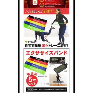 トレーニング ゴムバンド STEADY(トレーニング用品)