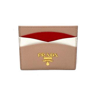 プラダ(PRADA)のプラダ 1MC025 サフィアーノ レザーカードケース 現行品(名刺入れ/定期入れ)