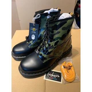 アベイシングエイプ(A BATHING APE)のBape x Dr. Martens 1460 zip boot camo 27(ブーツ)