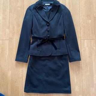 アーヴェヴェ(a.v.v)のa.v.v standard 黒スーツ38/セットアップ ワンピース ジャケット(スーツ)