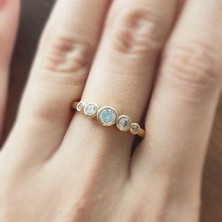 モアサナイトダイヤモンド*ゴールドリング (リング(指輪))