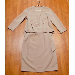 ロペ(ROPE)の美品 ROPE セットアップ スカート ブラウス キャメル 36(セット/コーデ)