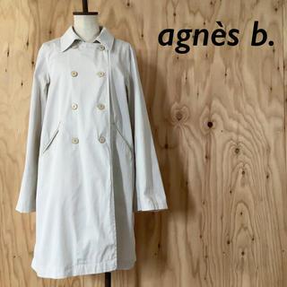 アニエスベー(agnes b.)のagnes b. ダブル ブレスト スプリングコート Aライン 袖フレア(スプリングコート)