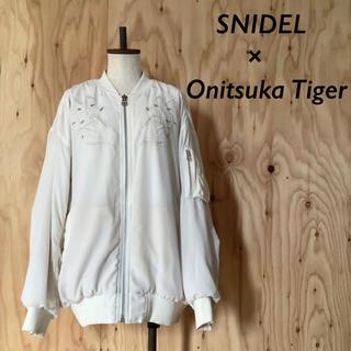 snidel - SNIDEL×OnitsukaTiger 刺繍  MA-1 スタジャン