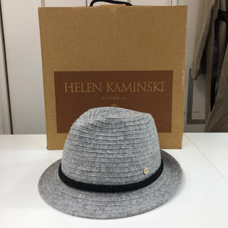 ヘレンカミンスキー(HELEN KAMINSKI)の美品!HELEN KAMINSKI ウール/カシミヤ 中折れ ハット 帽子(ハット)
