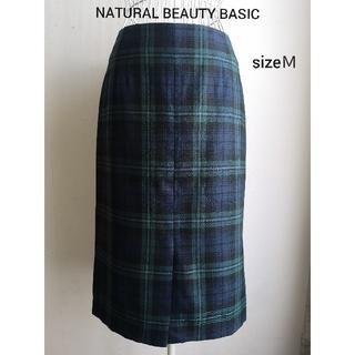 NATURAL BEAUTY BASIC - 美品 NATURAL BEAUTY BASIC 美シルエットペンシルスカート