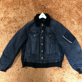 sacai - 【美品】sacai 18aw デニム×ボアドッキングMA-1ジャケット
