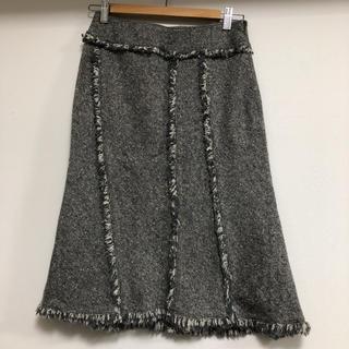アルファキュービック(ALPHA CUBIC)の膝丈ツィードスカート(ひざ丈スカート)