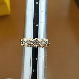 0.5ct k18 大粒 ダイヤモンド リング 指輪 12号