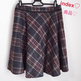 INDEX - 【美品】1/30まで値下げ♡index♡インデックス♡スカート♡チェック