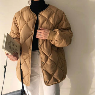 dholic - 大人気❗️アウター キルティングジャケット キャメル