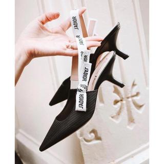 DIANA - Dior風 バックストラップパンプス ブラック 39