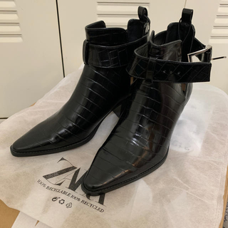 ZARA - ZARA アニマル柄ブーツ 新品未使用タグ付き