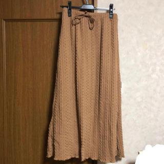 ダブルクローゼット(w closet)のケーブルスカート(ロングスカート)
