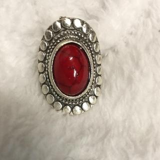 天然石指輪 リング レッド(赤)(リング(指輪))