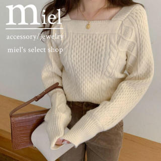 dholic - neck square knit/ネック スクエア ニット