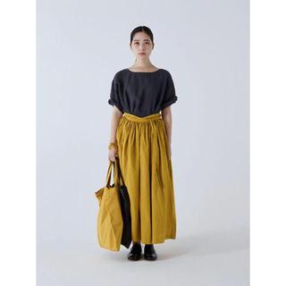 イデー(IDEE)の新品未使用 pool いろいろの服 巻きスカート イエロー(ロングスカート)
